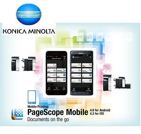Aplicación PageScope Mobile (Gratuita).