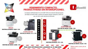 Oferta fotocopiadoras Olivetti